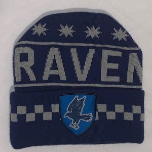 Harry Potter Ravenclaw Logo Striped Knit Beanie